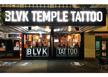 Blvk Temple Tattoo