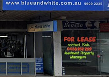 Blue & White Dry Cleaners